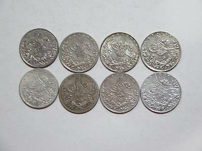 Egypt Turkey Ottoman Qirsh Ah1327 1293 Silver Type World Coin Collection Lot #mo