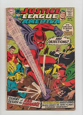 Justice League of America #64 1st Silver Age Red Tornado (DC 1968) VG/FN 5.0