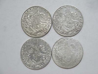 Egypt Turkey Ottoman 5 Qirsh Ah1327 Mixed Date Silver World Coin Collection Lot