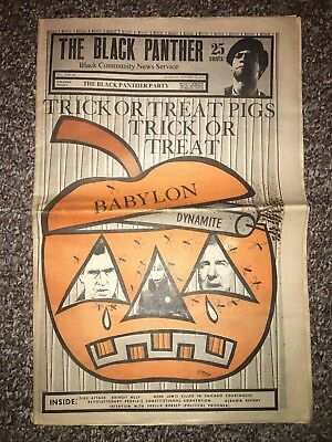 The Black Panther Party Newspaper Oct 31 1970 Trick Or Treat Pigs Halloween