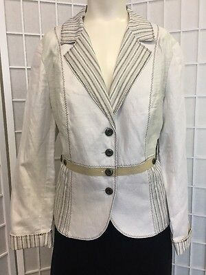 Woman Jacket, Cold water Creek, Size 14 Beige  Perfect Fall Brand New