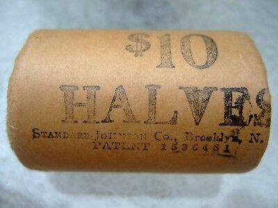 1964 Obw Original Bank Wrap Roll Bu Uncirculated Silver Kennedy Half Dollars