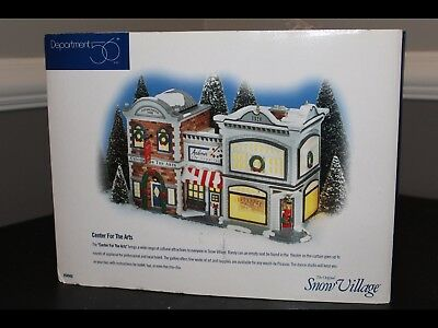Dept 56 Snow Village - Center For The Arts 54940 Retired 2000 New In Box