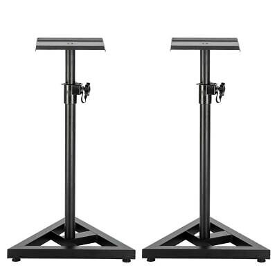 2x Heavy Duty Studio Monitor Speaker Stands Adjustable 1 Pair