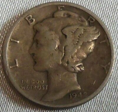 WW2 United States 1942 Mercury Dime US 10 Cents Silver Coin WWII