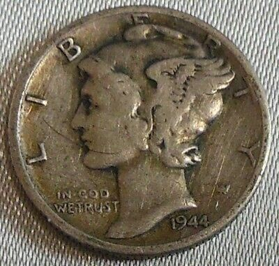 WW2 United States 1944s Mercury Dime US 10 Cents Silver Coin WWII