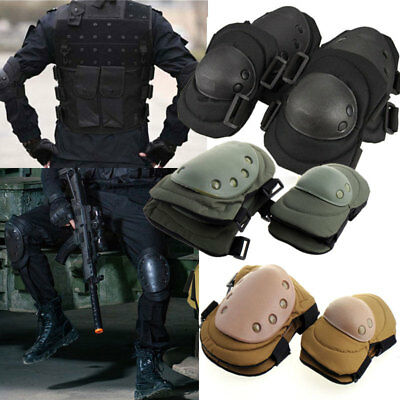 Adjustable Tactical Knee&Elbow Pad Airsoft Outdoor Protective Gear Knee Pads USA