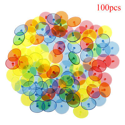 100X Flat Round Plastic Golf Ball Position Marker Multicolor Markers Mark  Z