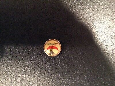 "Antique Shriner Celluloid Lapel Pin Cutlass, Half Moon & Donkey  "" I've Got It """