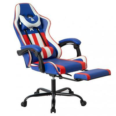 Gaming Office Racing Chair Desk Computer Ergonomic Swivel Chair w/ Back Support