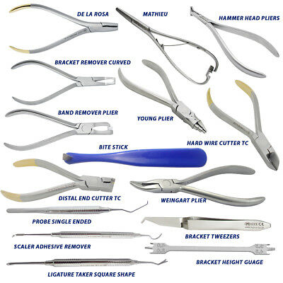 Orthodontic Weingart Young,Ortho Probe,Mathieu,Tweezer,Bracket Guage Ortho Tools