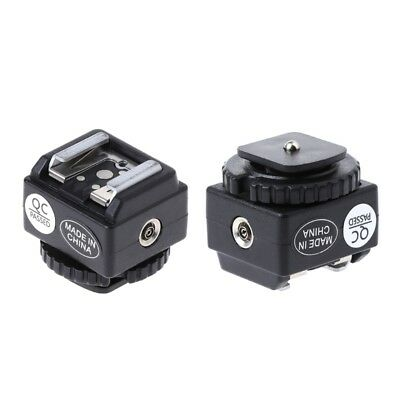 C-N2 Hot Shoe Converter Adapter PC Sync Port Kit For Nikon Flash To Canon Camea