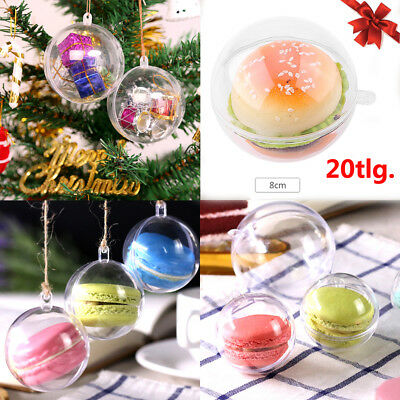 20tlg. Weihnachtskugeln 8cm Clear Christmas Ball Transparent Christbaumkugel Set