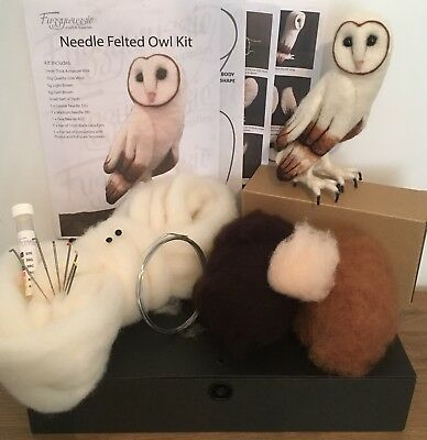 Needle Felting Barn Owl Kit Includes Core Wool Armature Wire Needles