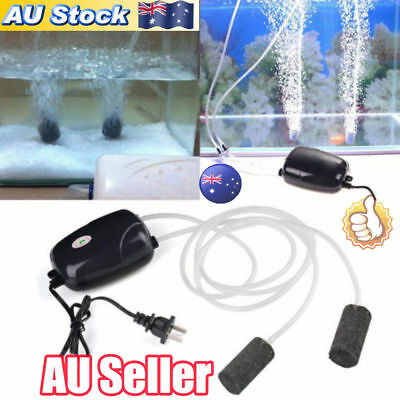 AU 2Pcs Air Bubble Disk Stone Aerator Aquarium Fish Tank Pond Oxygen Pump NEW