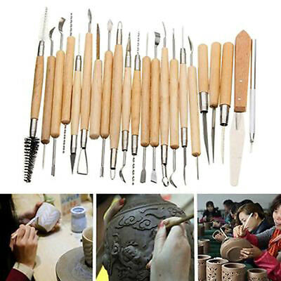 30Pcs Pottery Clay Sculpture Carving Modelling Ceramic Hobby Tools Art Craft_S