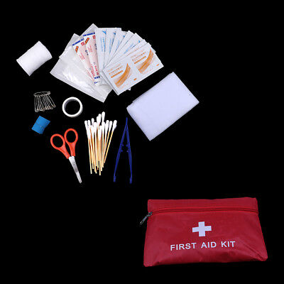 Small First Aid Kit For Emergency Safety Travel Sports Home Office Car Tool_S