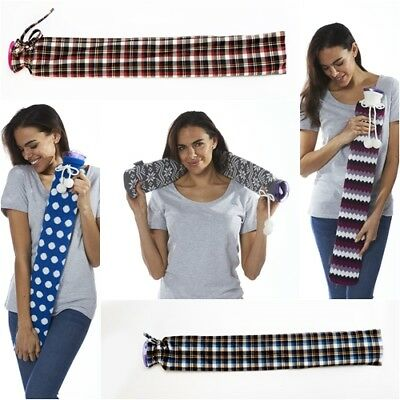 Intelex Warmies Extra Long Hot PVC Water Bottle - Gift Boxed - Various Designs