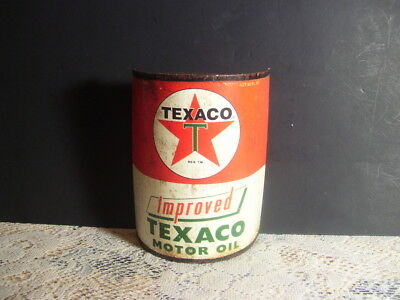 Texaco Motor Oil Metal Wall Mount 1/2 Can Wall Decor Man Cave Garage 6 Inches