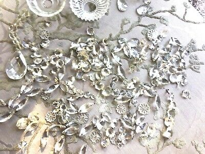 selection of antique crystals chandelier and bobeche