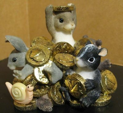 Fitz and Floyd Charming Tails Mice Figurine Rich In Friendship 97/25