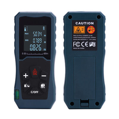 40M/130FT Digital LCD Laser Distance Meter Range Finder Measure Diastimeter Tool