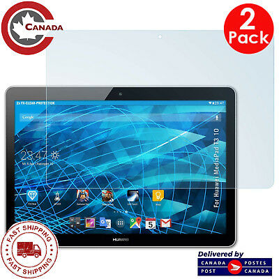 "[2 PACK] Huawei Mediapad T3 10 (9.6"") Tablet HD Tempered Glass Screen Protectors"