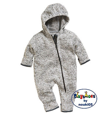 Playshoes Strick fleece Overall 421010 multicolor grau Gr. 62 - 86 Fleeceoverall