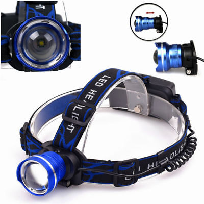 XM-L 3 mode Rechargeable Headlamp 3000LM T6 LED Headlight Lamp for Camping
