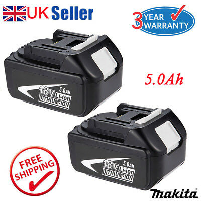 2x 5.0AH 18V Battery For Makita BL1850 BL1840 BL1860 LXT Lithium Ion Cordless UK