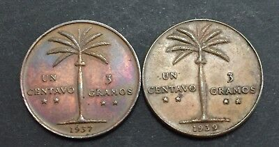 Dominican Republic 1937-1939 Cents Key Dates Of The Series