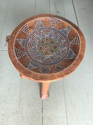 African Beaded Wooden Stool