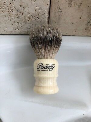R.A. Rooney Shaving Brush, Small Best Badger Hair Shaving Brush Faux Ivory