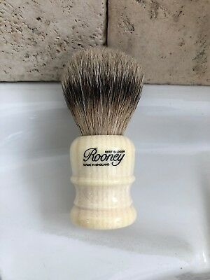 R.A. Rooney Shaving Brush, Medium Best Badger Hair Shaving Brush Faux Ivory