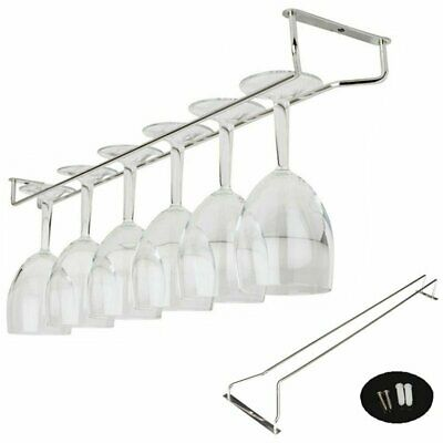 Wine Glass Cup Bar Holder Kitchen Chrome Plated Rack Holder Hanger Stemware