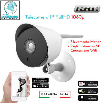 Telecamera Videosorveglianza Ip Hd 1080P Wireless Esterno Cloud Wifi Led Ir Wifi