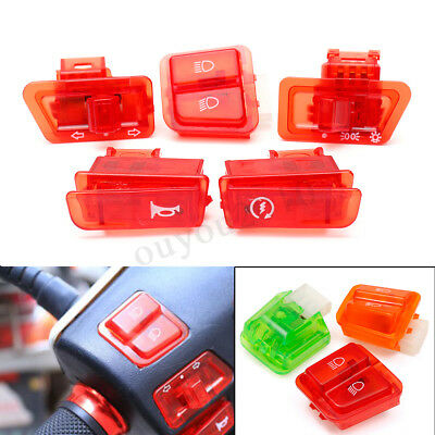 5Pcs Turn Signal Head Light Horn Dimmer Starter Switch Button For GY6 50cc-150cc