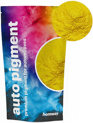 Hemway Automotive Powder Pigment Metallic Mustard Yellow Pearl Auto Paint 50g