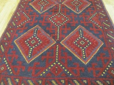A FANTASTIC OLD HANDMADE MOSHVANI WOOL ON WOOL ORIENTAL RUNNER (252 x 62 cm)