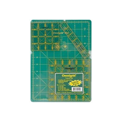 Omnigrid Ruler Set Mat & Rulr - Tool Kittravel 4pkg