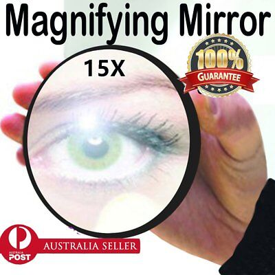 Makeup Mirror 15X Magnifying Cosmetic Beauty compact Shaving Round Suction AU