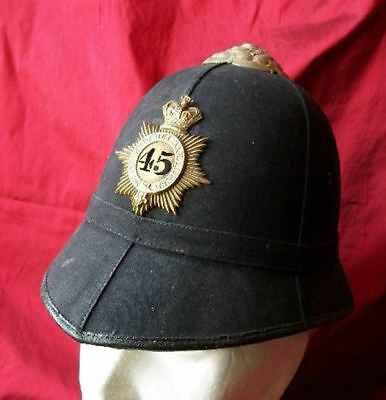 BRITISH PITH HELMET - CASQUE du 45th Nottinghamshire Foot Regiment - 1866–1881