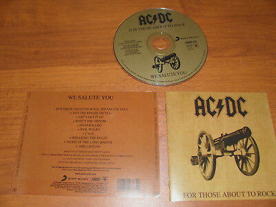 """Ac/dc """" For Those About To Rock """" 2003  Cd !"""