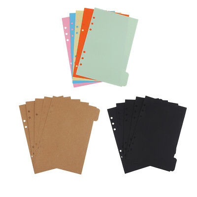 5pcs A5 Size Kraft Tabbed Paper Dividers Index Tabs for Paper Filing Planner