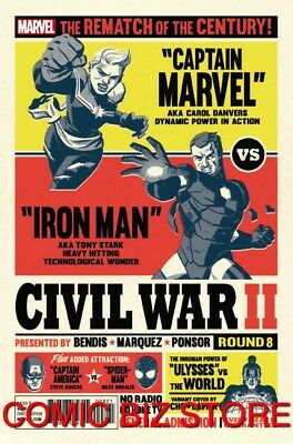 Civil War Ii #8 (2016) 1St Printing Cho Variant Cover Bagged & Boarded Marvel