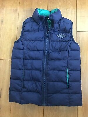 Boys Joules Navy Gilet Age 7-8 Excellent Condition