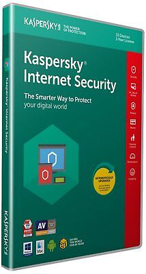 Kaspersky Internet Security 2019 | 10 Devices | 1 Year | PC/Mac/Android - NEW