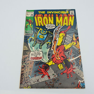 Iron Man #36 Bronze Age Marvel Comics 1st Appearance of Ramrod F+