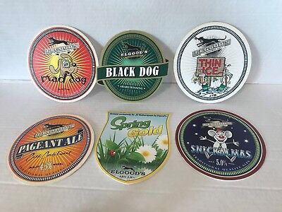 6 DIFFERENT THEMED Elgoods Brewery Ale Pub bar beer PUMP clip front badge sign