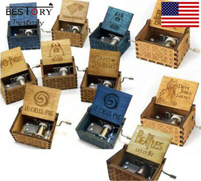 Harry Potter Creative Hand Made Classical Hand-Operated Wooden Music Boxs Crafts